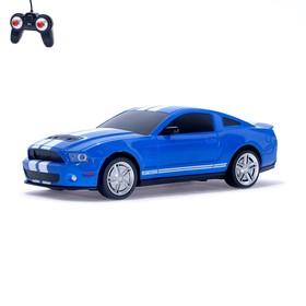Машина радиоуправляемая Ford Shelby Mustang, 1:24, работает от батареек, свет, цвет синий, mz 27050