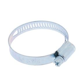 Хомут червячный TORK, сквозная просечка, диаметр 28 - 48, ширина 10 мм, оцинкованный Ош