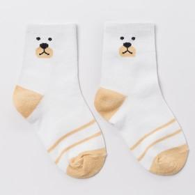 Носки детские, 'Медвежонок' цвет белый, р-р 16-18 Ош