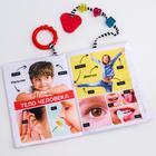 Развивающая нижка-игрушка Happy Baby «Изучаем человека», с кольцом и прорезывателем - Фото 3
