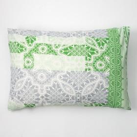 Наволочка Экономь и Я 50×70 «Ажур» цв. зеленый, 120 г/м², 100%хлопок, бязь
