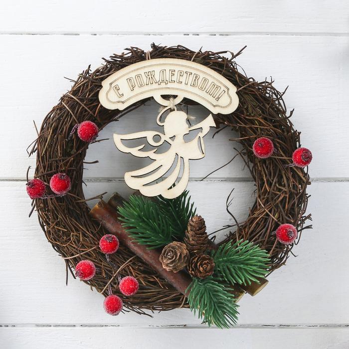 Венок рождественский Ангелочек