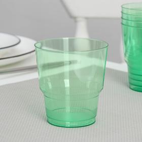 Стакан 200 мл 'Кристалл', цвет зелёный Ош