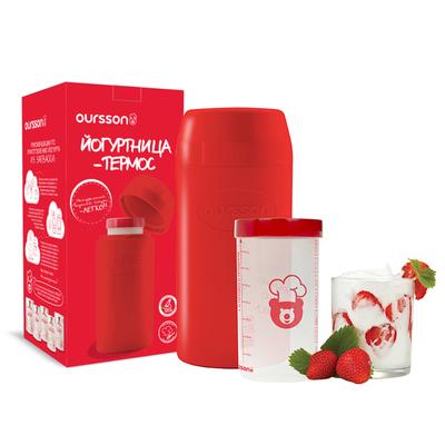 Йогуртница-термос Oursson, 1 л, красный
