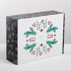 Коробка складная Winter time, 30.7 × 22 × 9.5 см Ош
