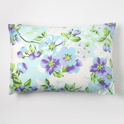 Наволочка Экономь и Я 50×70 «Цветы» цв.голубой, 120 г/м², 100%хлопок, бязь