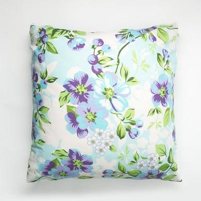 Наволочка Экономь и Я 70×70 «Цветы» цв.голубой, 120 г/м², 100%хлопок, бязь