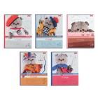Тетрадь А5, 24 листа в клетку «Кот Басик», обложка мелованный картон, 5 видов, МИКС