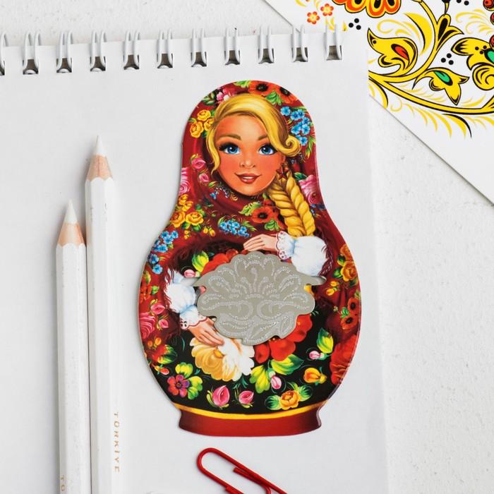 Закладка Russia in my heart, цветы
