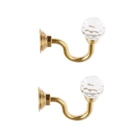 Крючок для штор KS007, однорожковый, цвет золото Ош