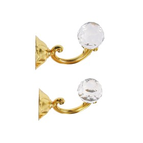 Крючок для штор KS008, однорожковый, цвет золото Ош