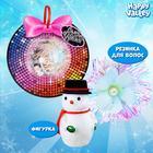 Игрушка в снежинке «Самой чудесной», (фигурка и резинка для волос) МИКС