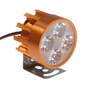 Фара cветодиодная для мотоцикла, 4 LED, IP67, 4Вт, направленный свет