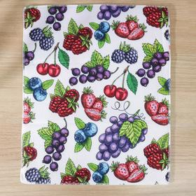 Коврик для сушки посуды «Ягоды», 38×51 см, микрофибра Ош