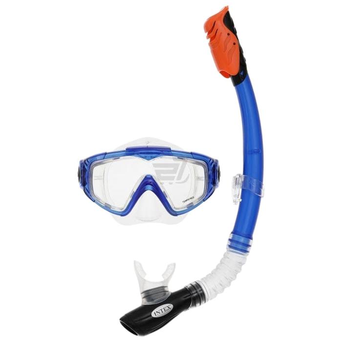 Набор для подводного плавания AQUA SPORT, маска, трубка, от 14 лет, 55962 INTEX