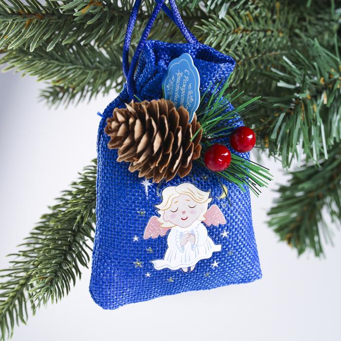 Подвеска-мешочек на ёлку Счастливого Рождества