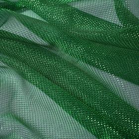 Трикотаж плательный, сетка, ширина 150 см, цвет зелёный 007