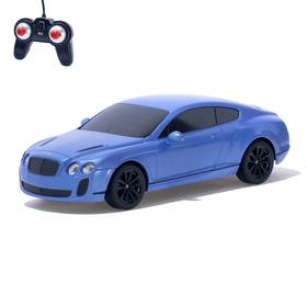 Машина радиоуправляемая Bentley Continental, 1:24, работает от батареек, свет, цвет синий, mz 27040