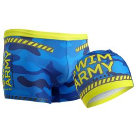 Комплект для плавания детский (плавки+шапочка) для мальчиков, размер 32, рост 128 см Ош