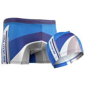 Комплект для плавания детский (плавки+шапочка) для мальчиков, размер 30, рост 122 см Ош