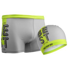 Комплект для плавания детский (плавки+шапочка) для мальчиков, размер 28, рост 116 см Ош