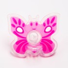 Пустышка цельносиликоновая, «Бабочка», контейнер,  классическая, от 0 мес., цвет розовый - Фото 3