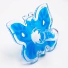 Пустышка цельносиликоновая, «Бабочка», контейнер, классическая, от 0 мес., цвет голубой - Фото 2