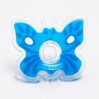 Пустышка цельносиликоновая, «Бабочка», контейнер, классическая, от 0 мес., цвет голубой - Фото 3