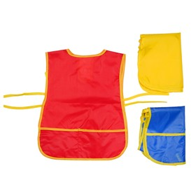 Фартук детский для творчества с карманами, на завязках, размер S, цвета МИКС Ош