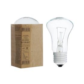 Лампа накаливания ТЭЛЗ, Б, 60 Вт, Е27, 230 В