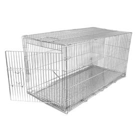 Клетка для собак с мет. поддоном, 40 х 82 х 42 см, хром Ош