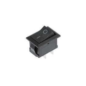 Клавишный выключатель, 250 В, 6 А, ON-OFF, 2c, черный Ош