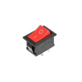 Клавишный выключатель, 250 В, 6 А, ON-OFF, 2c, красный Ош