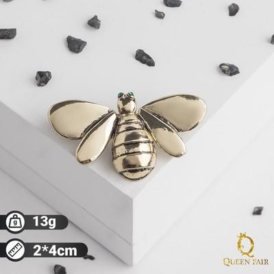 """Брошь """"Пчела"""", цвет черненого золота"""