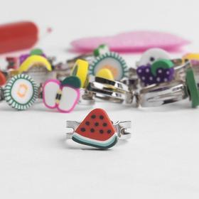 Кольцо детское 'Выбражулька' фруктики, форма МИКС, цвет МИКС Ош