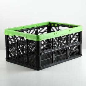 Ящик для хранения складной 32 л, 48×35×23,5 см, цвет МИКС Ош