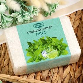 Соляной брикет с алтайскими травами 'Мята', 1,35 кг 'Добропаровъ' Ош