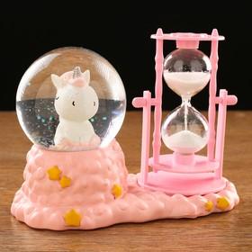 Часы песочные 'Единорог', с подсветкой, 17х14х8 см, цвет микс Ош
