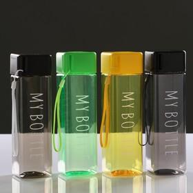 Бутылка для воды 'My bottle' 450 мл, прямоугольная, 5.5х20 см, микс Ош