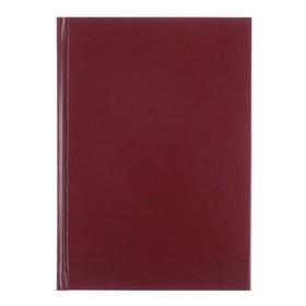 Ежедневник недатированный А5+, 136 листов Ideal new, бумвинил, бордовый Ош