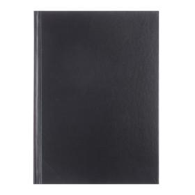 Ежедневник недатированный А5+, 136 листов Ideal new, бумвинил, чёрный Ош