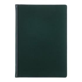 Ежедневник недатированный А5+, 136 листов Velvet, искусственная кожа, зелёный