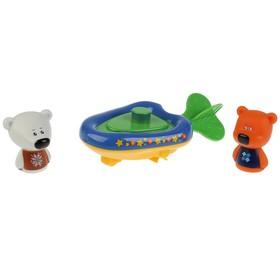 Игрушка для купания «Ми-ми-мишки. Лодка+Кеша+Тучка», 5,4 см -