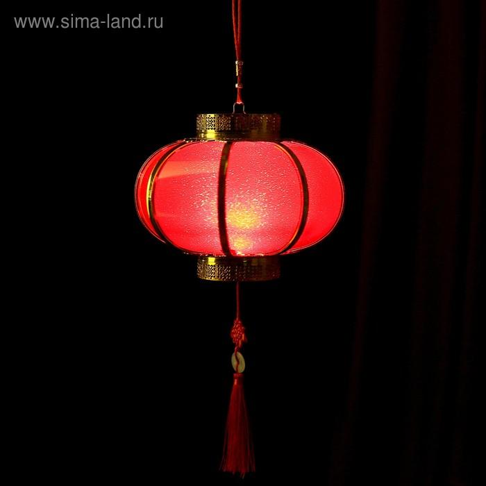 "Сувенир пластик свет ""Китайский фонарик"" от батареек 2хААА 21х24х24 см"