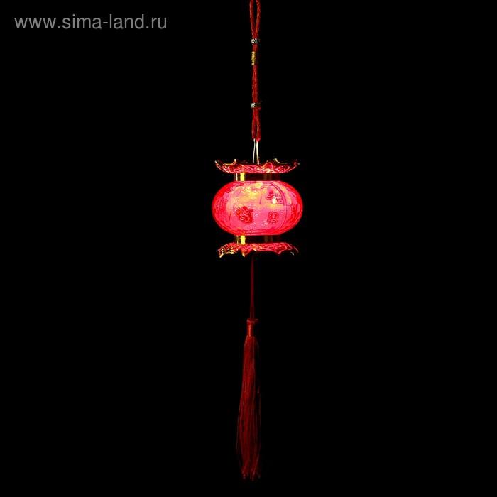 "Сувенир пластик свет ""Китайский фонарик - лампада"" от батареек 2хAG13 8,5х8х8 см"