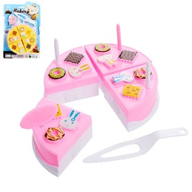 Игровой набор для резки «Мини тортик», с аксессуарами, МИКС