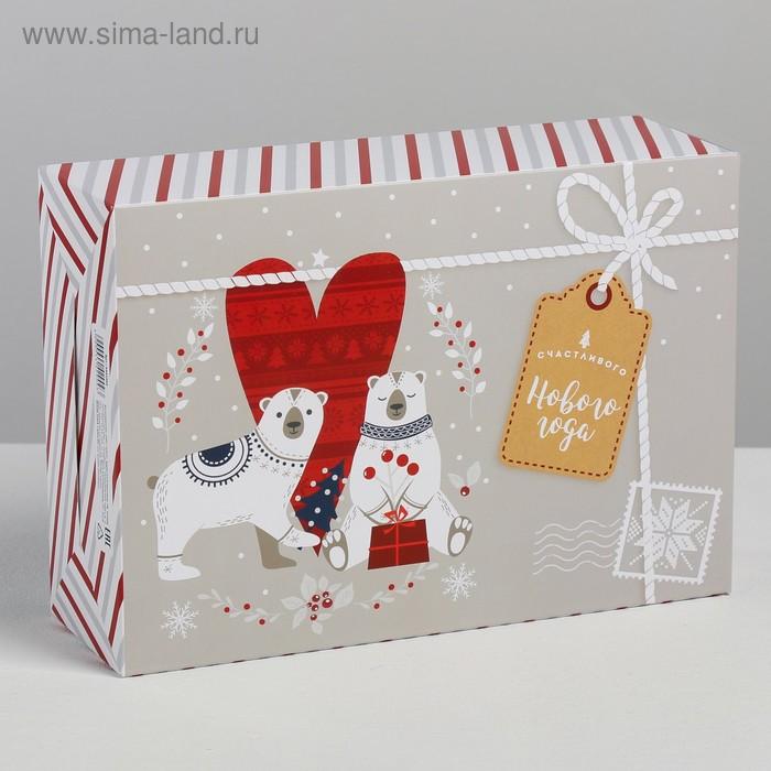 Коробка складная «Волшебного Нового года», 16 × 23 × 7.5 см