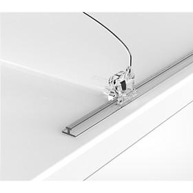 Т-профиль пластиковый шириной 10 мм для крепления разделителей на полке, 1250 мм, прозрачный Ош