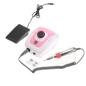 Машинка для маникюра и педикюра JessNail DM206, 30 Вт, 35000 об/мин, бело-розовая Ош