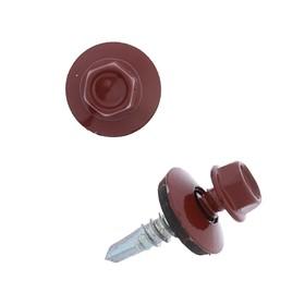 Саморезы кровельные 5.5х25 RAL3009, темно-красный, 250 шт. Ош